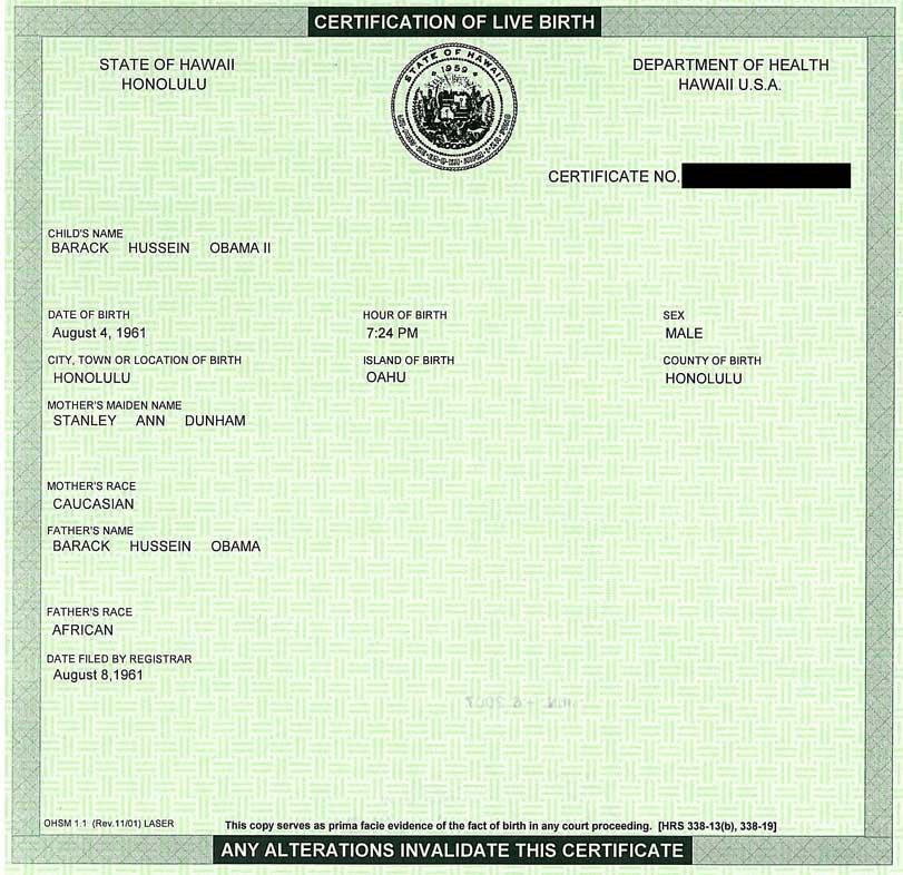 President Obama Birth Certificate Controversy Pileus