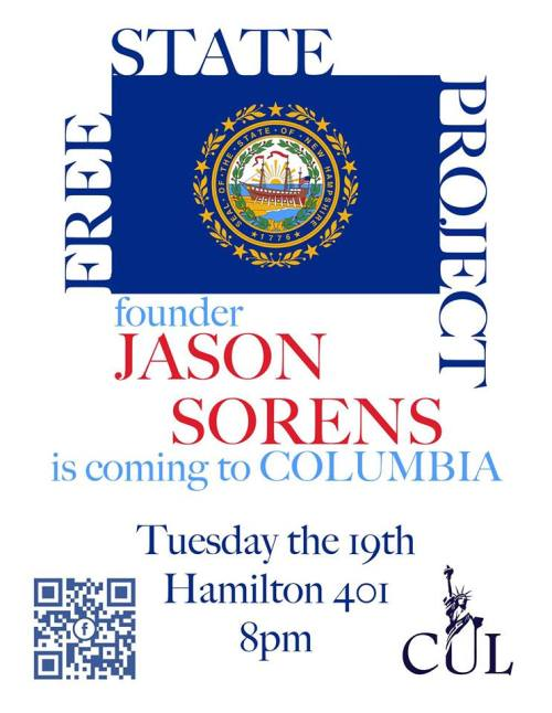 Jason Sorens at Columbia University